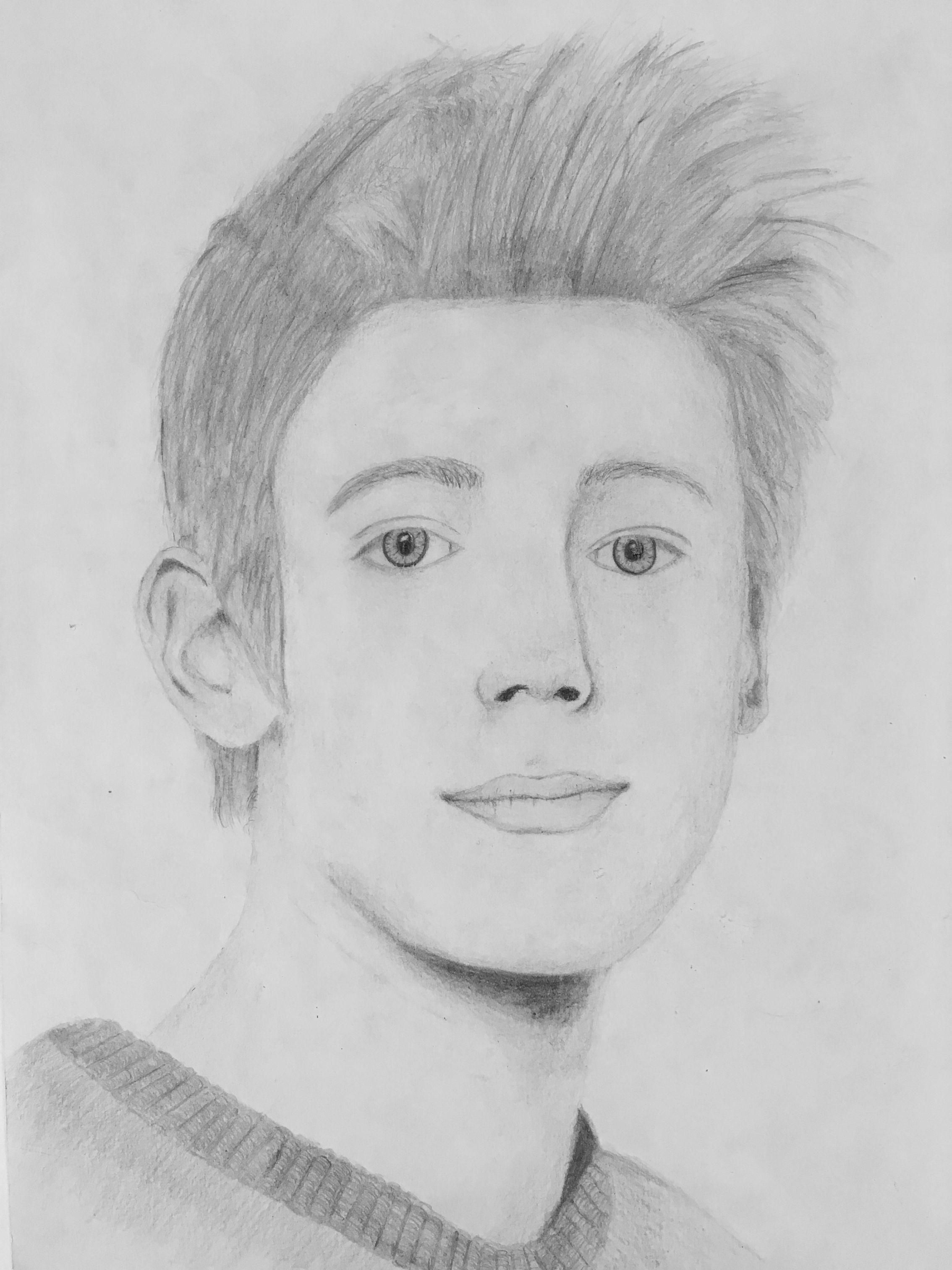 Portraits Zeichnen Klasse 8ag Gerhart Hauptmann Schule Griesheim